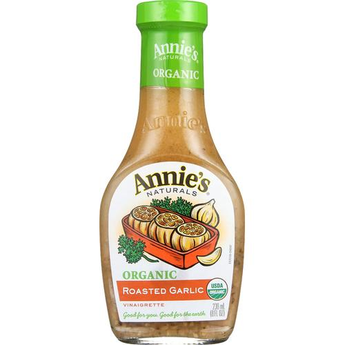 Annie's Naturals Vinaigrette Organic Roasted Garlic - Case of 6 - 8 fl oz.