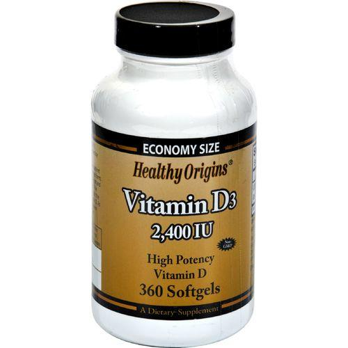 Healthy Origins Vitamin D3 - 2400 IU - 360 Softgels