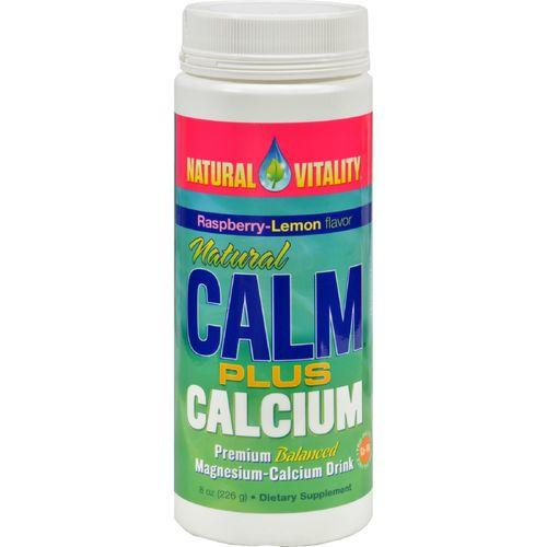 Natural Vitality Natural Calm Plus Calcium Organic Raspberry-Lemon - 8 oz