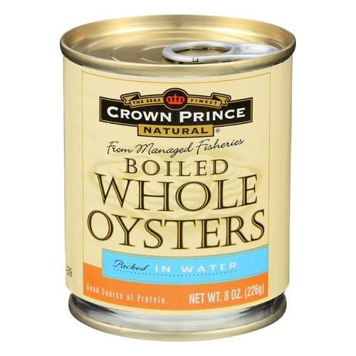 Crown Prince Oysters - Boiled - Case of 12 - 8 oz.