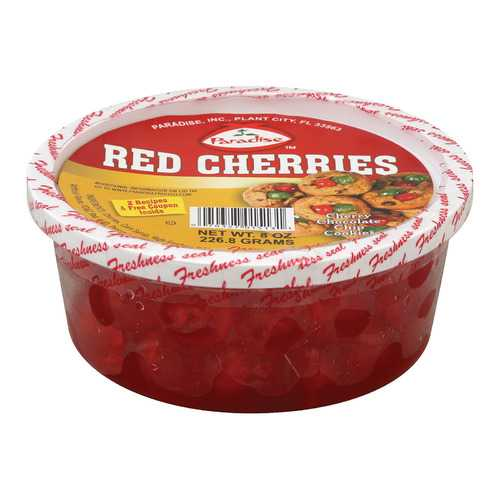 Paradise Glace Fruit Red Cherries - Case of 12 - 8 oz