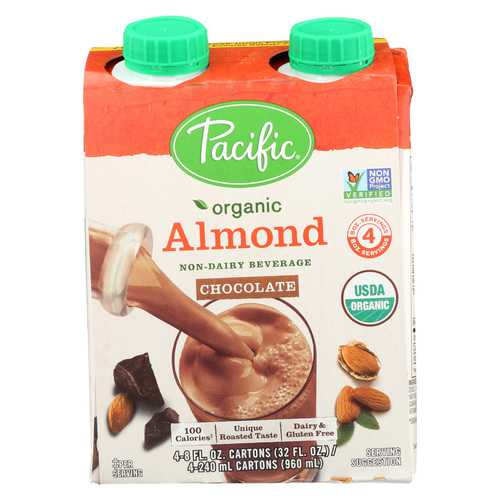 Pacific Natural Foods Almond Chocolate - Organic - Case of 6 - 8 Fl oz.