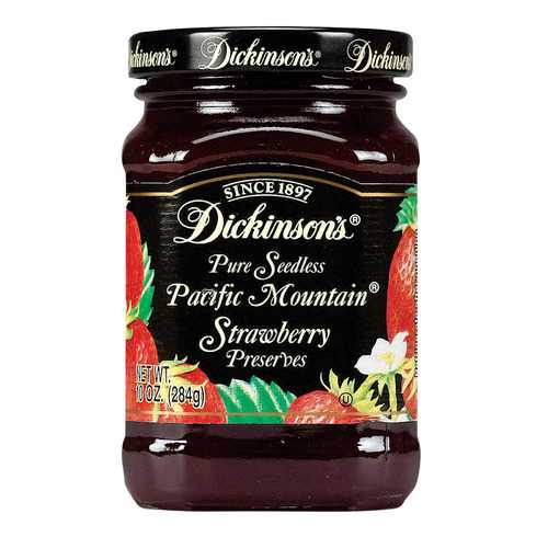 Dickinson Pure Seedless Pacific Mountain Strawberry Preserves - Case of 6 - 10 oz.
