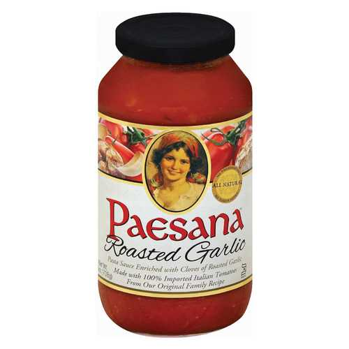 Paesana Roasted Garlic - Tomato - Case of 6 - 25 oz.