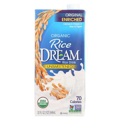 Rice Dream Organic Rice Drink - Unsweetened Enriched - 32 fl oz