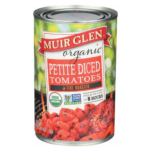 Muir Glen Fire Roasted Diced Tomatoes - Tomato - Case of 12 - 14.5 oz.