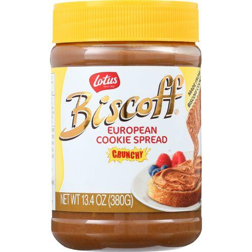 Biscoff Cookie Butter Spread - Peanut Butter Alternative - Crunchy - 13.4 oz - case of 8