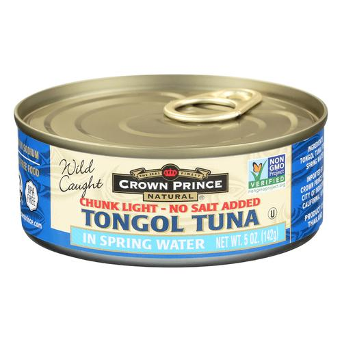 Crown Prince Tongol Tuna In Spring Water - Chunk Light - Case of 12 - 5 oz.