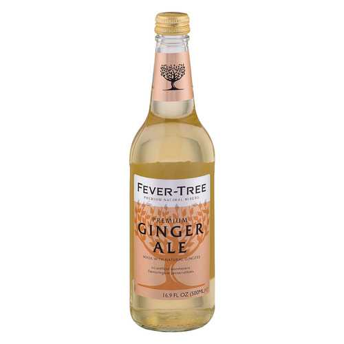 Fever - Tree Ginger Ale - Ale - Case of 8 - 16.9 FL oz.