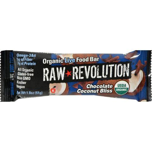 Raw Revolution Bar - Organic Coconut Bliss - Case of 12 - 1.8 oz