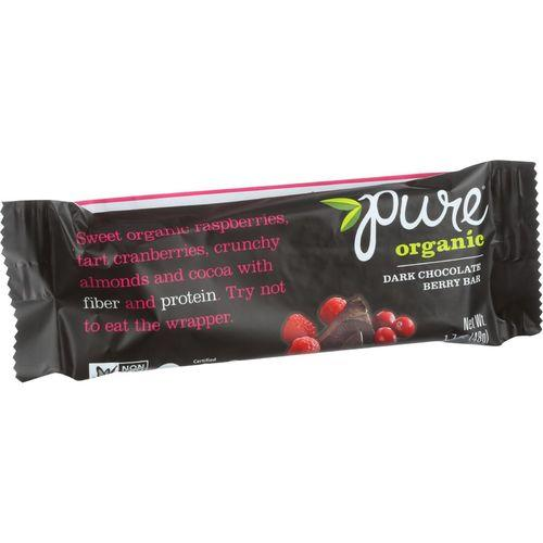 Pure Organic Pure Fruit and Nut Bar - Organic - Dark Chocolate Berry - 1.7 oz Bars - Case of 12