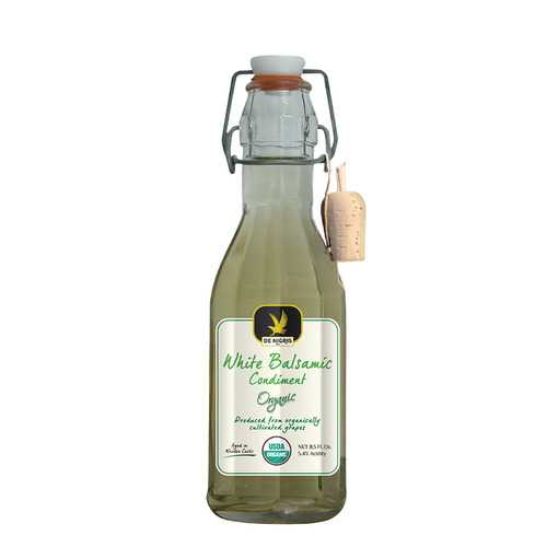 De Nigris 100% Organic Vinegar - Balsamic White - Case of 6 - 8.5 fl oz