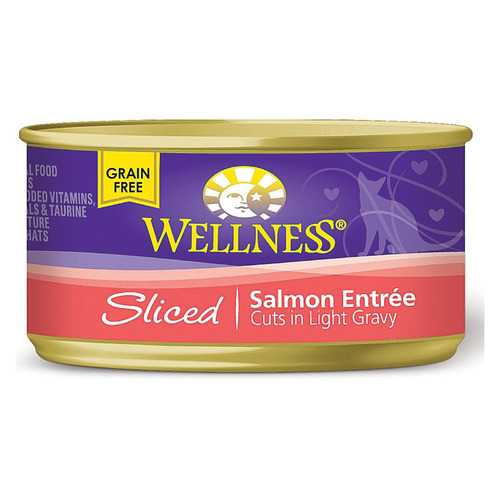 Wellness Pet Products Cat Food - Salmon Entr?e - Case of 24 - 3 oz.