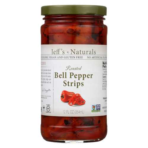 Jeff's Natural Jeff's Natural Bell Pepper Strip - Bell Pepper Strips - Case of 6 - 12 oz.
