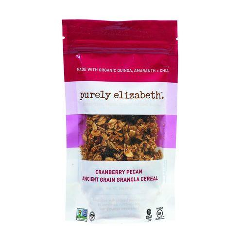Purely Elizabeth Ancient Grain Granola Cereal - Cranberry Pecan - 2 oz - Case of 8