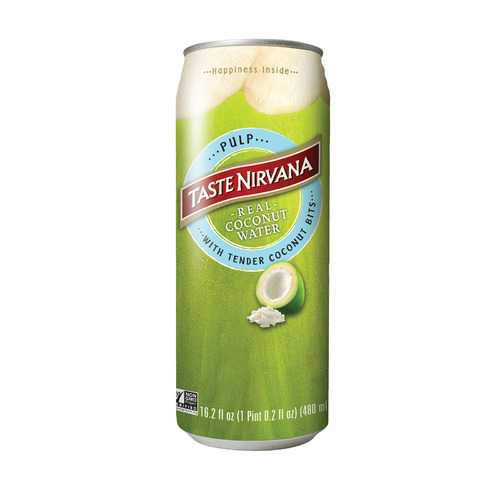 Taste Nirvana Taste Nirvana Coconut Water with Pulp - Case of 12 - 16.2 Fl oz.