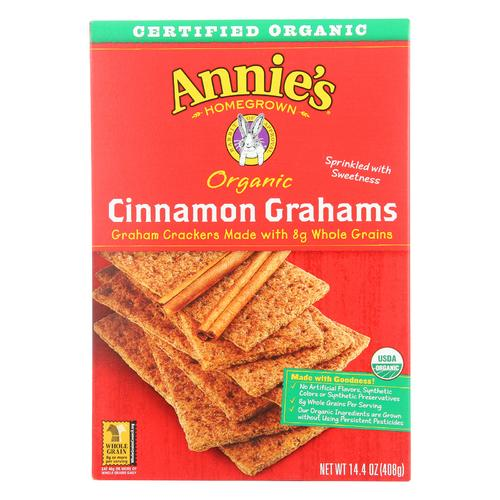 Annie's Homegrown Organic Cinnamon Graham Crackers - Case of 12 - 14.4 oz.