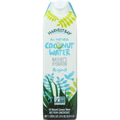 Harvest Bay Coconut Water - All Natural - 33.8 oz - case of 12