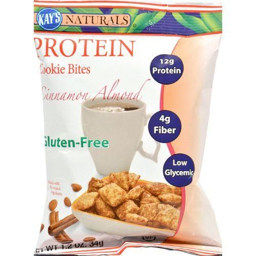 Kay's Naturals Protein Cookie Bites - Cinnamon - Case of 6 - 1.2 oz