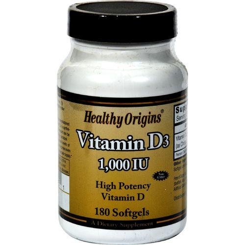 Healthy Origins Vitamin D3 - 1000 IU - 180 softgels