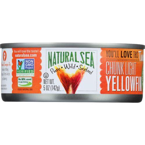 Natural Sea Wild Yellowfin Tuna - With Sea Salt - Case of 12 - 5 oz.