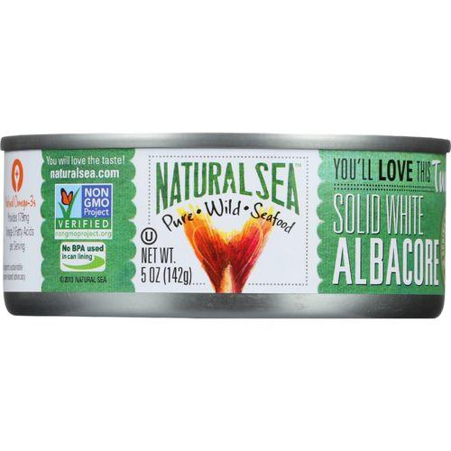 Natural Sea Wild Albacore Tuna - With Sea Salt - Case of 12 - 5 oz.