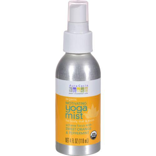 Aura Cacia Organic Yoga Mist - Motivating Sweet Orange and Peppermint - 4 oz