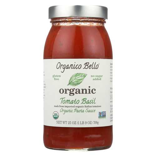 Organico Bello Basil Pasta Sauce - Tomato - Case of 6 - 25 oz.