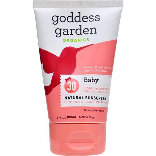 Goddess Garden Organic Sunscreen - Baby Natural SPF 30 Lotion - 3.4 oz