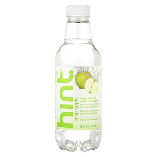 Hint Apple Water - Crisp Apple - Case of 12 - 16 Fl oz. - Vitamins Pros