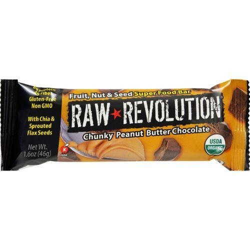 Raw Revolution Bar - Organic - Super Food - Chnk PBt Choc - 1.6 oz - 1 Case
