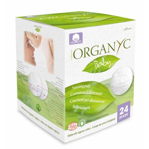 Organyc Nursing Pads - 100 Percent Organic Cotton - 24 Count