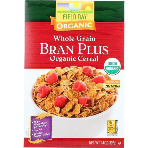 Field Day Cereal - Organic - Whole Grain - Bran Plus - 14 oz - case of 10