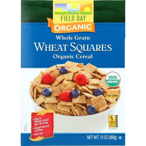 Field Day Cereal - Organic - Whole Grain - Wheat Squares - 13 oz - case of 10