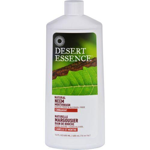 Desert Essence Mouthwash - Natural Neem - Cinnamint - 16 oz