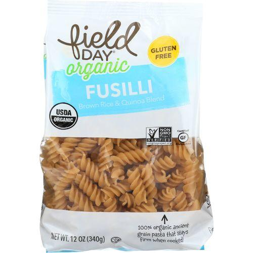 Field Day Pasta - Organic - Brown Rice and Quinoa Blend - Fusilli - 12 oz - case of 12