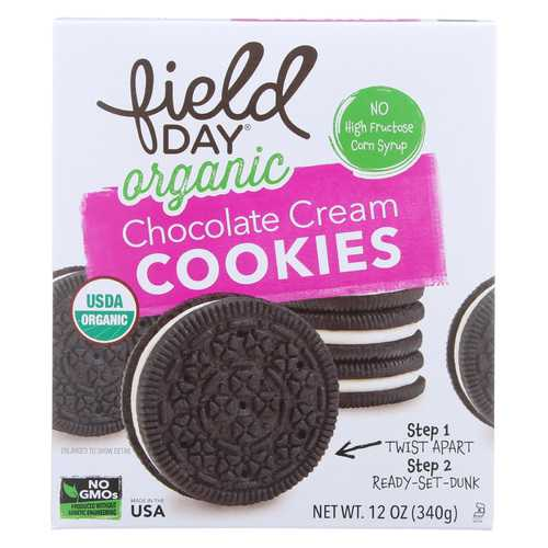 Field Day Organic Chocolate Cream Cookies - Cookies - Case of 6 - 12 oz.