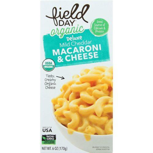 Field Day Macaroni and Cheese - Organic - Deluxe - Mild Cheddar - 6 oz - case of 12