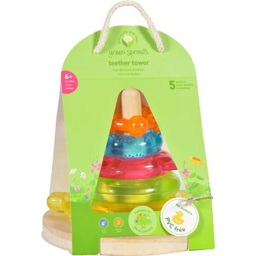 Green Sprouts Stacking Teether Tower - 6 Months Plus - Dream Window - 1 Count