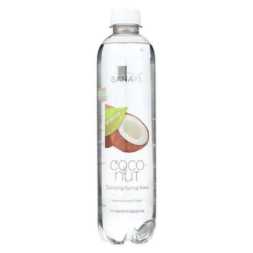 Sanavi Sparkling Spring Water - Coconut - Case of 12 - 17 Fl oz.