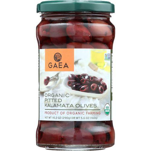 Gaea Olives - Organic - Kalamata - Pitted - Original - 5.6 oz - case of 8
