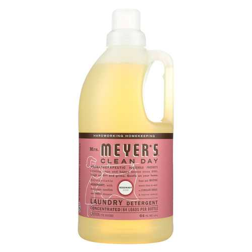 Mrs. Meyer's Clean Day - Laundry Detergent - Rosemary - Case of 6 - 64 Fl oz.