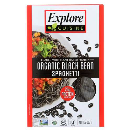 Explore Cuisine Organic Black Bean Spaghetti - Spaghetti - Case of 6 - 8 oz.