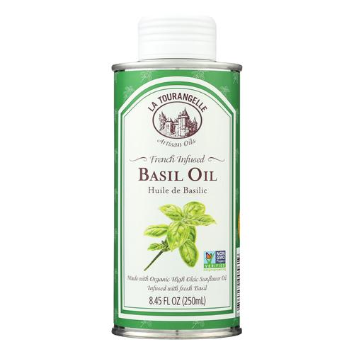 La Tourangelle French Infused Basil Oil - Case of 6 - 8.45 Fl oz.