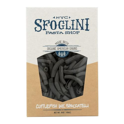 Sfoglini Cuttlefish Ink Spaccatelli - Case of 6 - 16 oz.