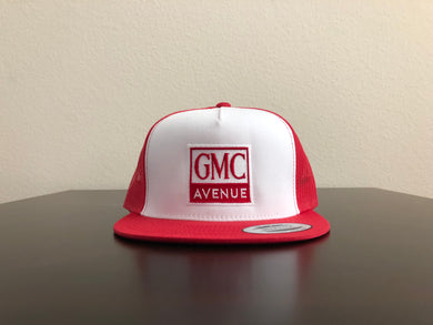 a1600d17f29 GMC AVE LOGO RED HAT WHITE PANEL RED STITCHING