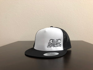GMC AVE LOGO OFFSET BLACK HAT WHITE PANEL BLACK STITCHING