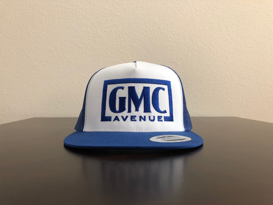 GMC AVE STAMP LOGO ROYAL BLUE HAT WHITE PANEL ROYAL BLUE STITCHING