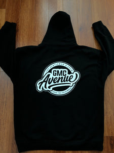 GMC AVE STANDARD LOGO HEAVYWEIGHT BLACK HOODIE