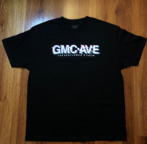 GMC AVE GLITCH BLACK T-SHIRT